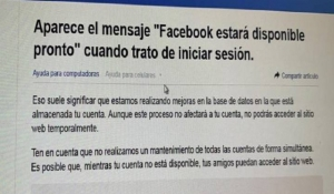 Facebook, Instagram y WhatsApp se caen