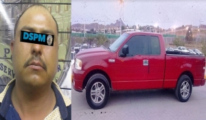 Lo detienen por robar pick up con menor y persona adulta en el interior